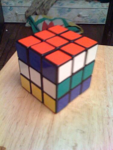 Solving a cube top-bottom-middle 6/7