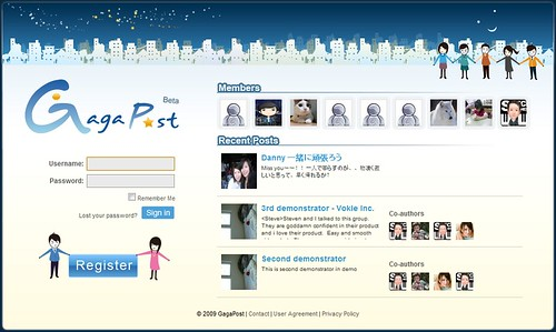 Example of a Collaborative Social Blogging 3.0 platform: Gagapost