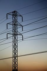 Letting the Cables Sleep (L A Z A R U S) Tags: california sky urban tower birds sunrise industrial dusk horizon powerlines cables electricity poles sacramento