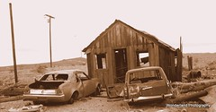Ludlow, CA (tacosandburritos) Tags: california old house cars abandoned vintage volcano route66 desert antique traintracks historic ludlow crater mojave nostalgic ghosttown shack dirtroad remains