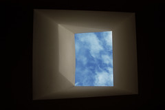 How can you dream in the doorway? (Megan Caros) Tags: blue light sky cloud clouds dark edited skylight barely thehushsound