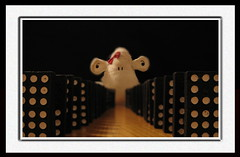 Vanishing Points (Shaun_Sheep) Tags: sheep uncle relaxing falling dominos shaun worlddomination chocolatemilk domino tipping dominoes meditative vanishingpoints fgr pleasejoin