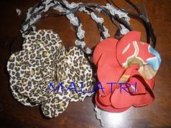 colar ona e colar vermelho - lioness necklace cotton - chita necklace (malatri) Tags: flowers flores flower art fashion hair necklace pin bro