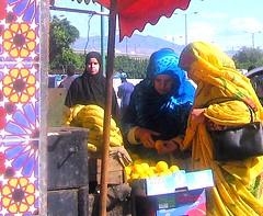 Inezgane Women Buying Fruit (ronramstew) Tags: fruit shopping women hijab stall morocco maroc maghreb marruecos 2009 marokko inezgane inesgane inzegane