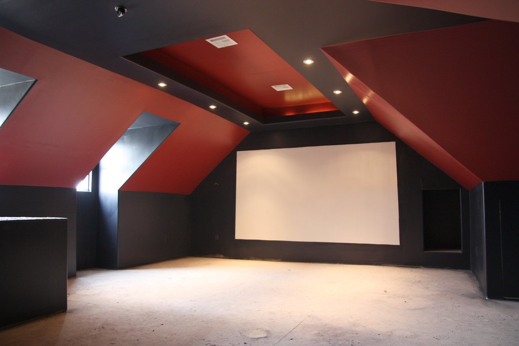 Mattflix Media Room Attic Theater Begins Construction