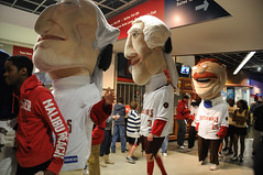 The Nationals racing presidents invade Verizon Center