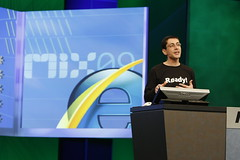 Our Fearless Leader reveals IE8 at MIX09. Photo by DBegley.