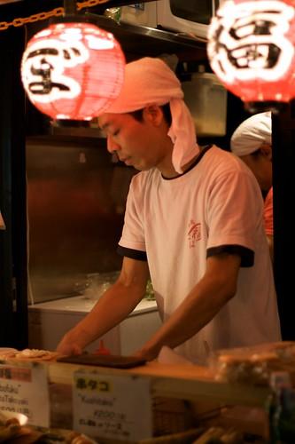 Takoyaki cook in Kyoto
