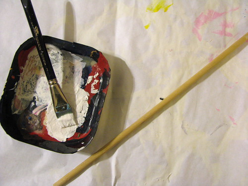 Painting the dowel
