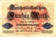 Berlin, Reichbanksnote, 50 Mark, 1914 (Iliazd) Tags: germany inflation notgeld papermoney germancurrency emergencymoney germanpapermoney