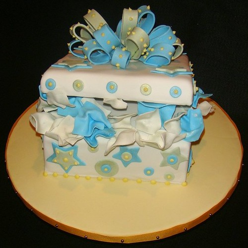 Gift Box Baby Shower Cake (Boy)