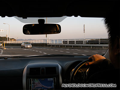 Driving to the shrine