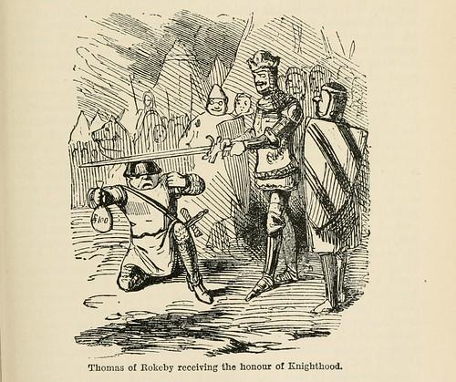 027-Thomas de Rokeby recibiendo el honor de ser nombrado caballero