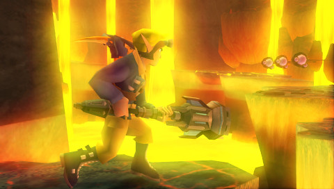 Jak and Daxter: The Lost Frontier screenshotost Frontier screenshot Brink Volcano