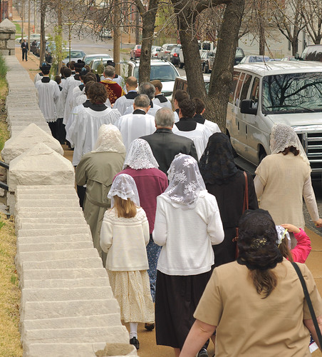 Saint Francis de Sales Oratory, in Saint Louis, Missouri, USA - Palm Sunday Procession, outside 1