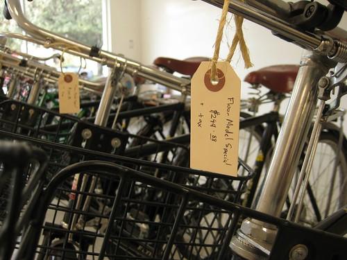 Floor model Flying Pigeon bicycles marked down $50 until supplies last.