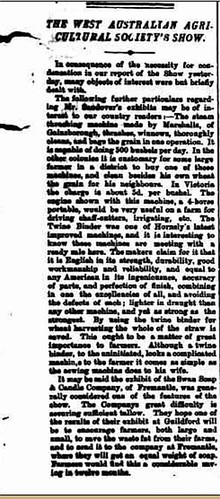 The West Australian Friday 4 November 1887 SHOW