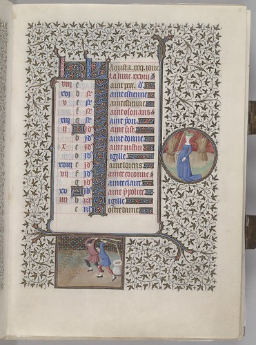 Calendar showing first part of August with monthly occupation and zodiac sign. (HM 1100)