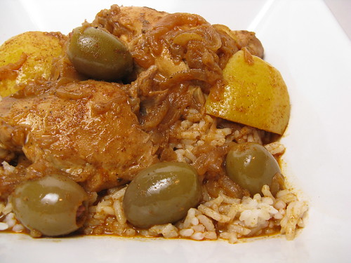Moroccan Chicken with Lemons & Olives