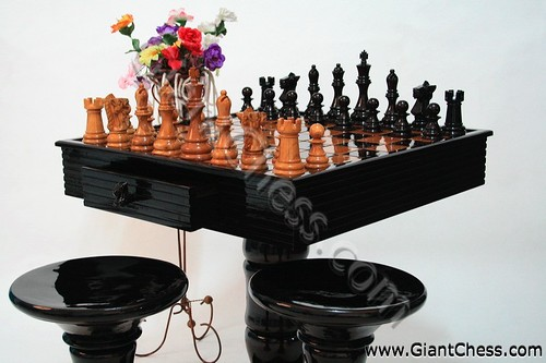 Ordinaire Wooden Large Chess Set For Outdoor Play Or Garden Games