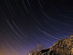 Center of the universe? (dubbelt_halvslag) Tags: longexposure light sky color norway night canon dark star stavanger long exposure nocturnal streak trail galaxy astronomy universe rogaland startrail stjrnor lngexponeringstid