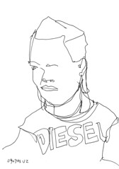 Ubahnpeople 080702 (Hannes Grblacher) Tags: vienna wien portrait art sketch exhibition ubahn times sketches latimes subwaysketch skizzen subwaysketches ubahnpeople