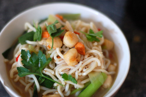 Scallops in Chinese broth