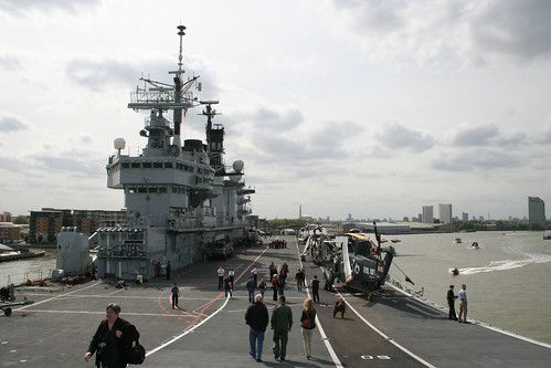 HMS Illustrious from the top of the ski jump ramp