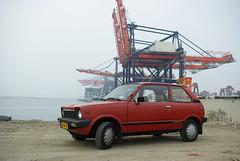 More Suzi.. (sjoerd_reverda) Tags: car port japanese rotterdam kei terminal cranes container suzuki shipping alto cosco euromaxx