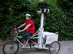 Google Street View Trike (RobertAndrews) Tags: street camera city uk hardware google europe googlemaps view tricycle maps laser trike sick streetview googlestreetview