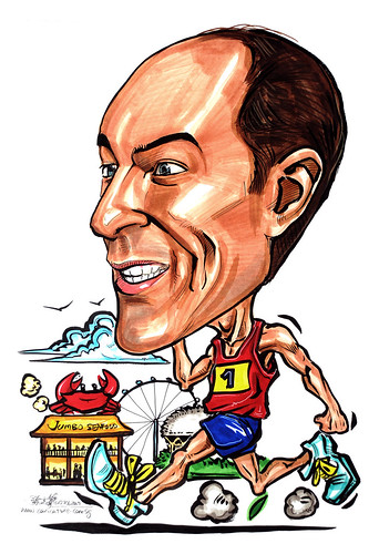 Caricature for ExxonMobil runner
