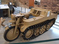 Kettenkrad (Megashorts) Tags: uk army war tank military wwii olympus german armor dorset ww2 motorcycle vehicle inside e3 fighting armour armored zuiko 2009 axis tankmuseum halftrack nsu tracked armoured zd 1454mm bovingtontankmuseum kettenkrad sdkfz2 bovingtonmuseum ppdcb4