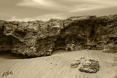 DESERT (YOUSEF AL-OBAIDLY) Tags: sky sepia sand rocks waves desert kuwait
