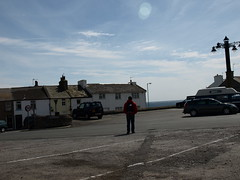 just looking (JUST FOCUS - one moment in time) Tags: houses sea sky lamp clouds view carpark isleofman portstmary justlooking ttraces09