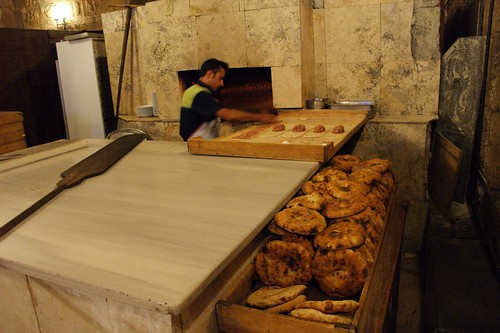 hand made bread and Turkish pizza