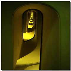 The yellow funnel (Nespyxel) Tags: light vortex abstract rome roma yellow architecture spiral stair pov perspective vertigo snail stairwell pointofview giallo repetition scala dizzy astratto architettura luce funnel spiralstaircase spirale chiocciola geometrie vortice geometries imbuto challengeyouwinner nespyxel stefanoscarselli pospettiva spiralstaircasesandstaircasesprojectinrome pleasedontusethisimageonwebsites blogsorothermediawithoutmyexplicitpermissionallrightsreserved