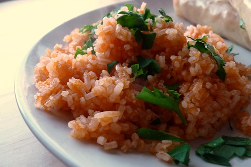 Rīsi ar tomātu sviestu