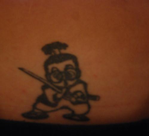samurai. self portrait. tattoo