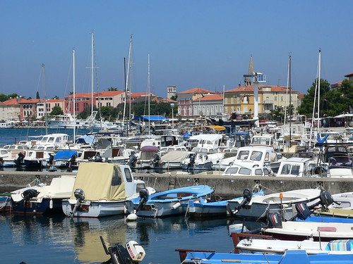 Marina at Porec in Istria, Croatia
