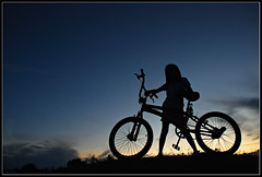 Into the blues (micxs032(al michael)) Tags: sunset bike bicycle silhouette kid philippines silhouettes cycle cebu lapulapu cebusugbo garbongbisaya