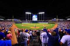 Extra Innings at the K, Kauffman Stadium, Kansas City, MO (Ottergoose) Tags: stadium excitement crowds scoreboard reaction kansascityroyals kauffmanstadium minnesotatwins linedrive extrainnings