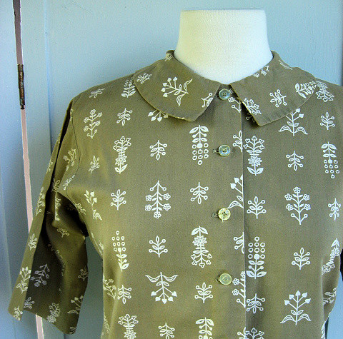 folklore print blouse