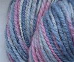 Ice Troll - handspun wool yarn - BFL  bulky -  158 yds