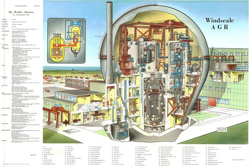 The World's Reactors, No. 32, Windscale AGR, Windscale, Cumberland, UK. Wall chart insert, Nuclear Engineering, April 1961