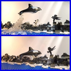 Star Wars : Free Willy ( Uncut ) (Legoagogo) Tags: starwars lego stormtrooper whale orca darthvader killerwhale chichester afol
