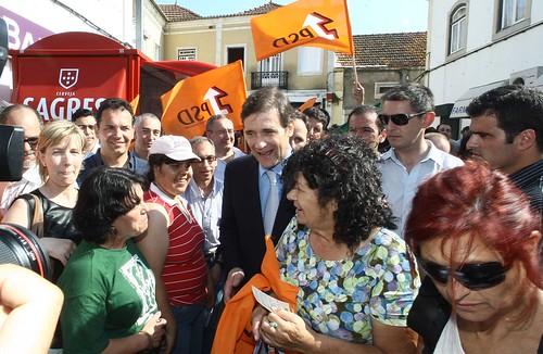 Pedro Passos Coelho visita a Feira de Maio na Moita