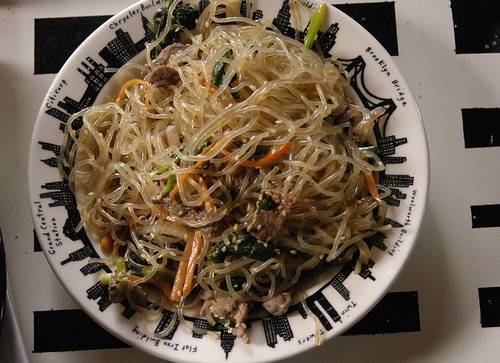 Matthew's amazing Koren noodles, gluten-free!