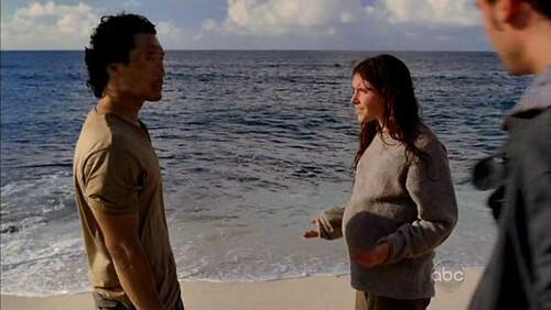 Melissa Farman embarazada playa