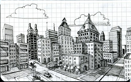 Perspective Drawings Of Buildings 2 point perspective city | art | pinterest | perspective