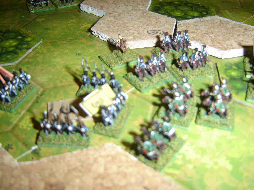 Counter charge by the Portuguese cavalry